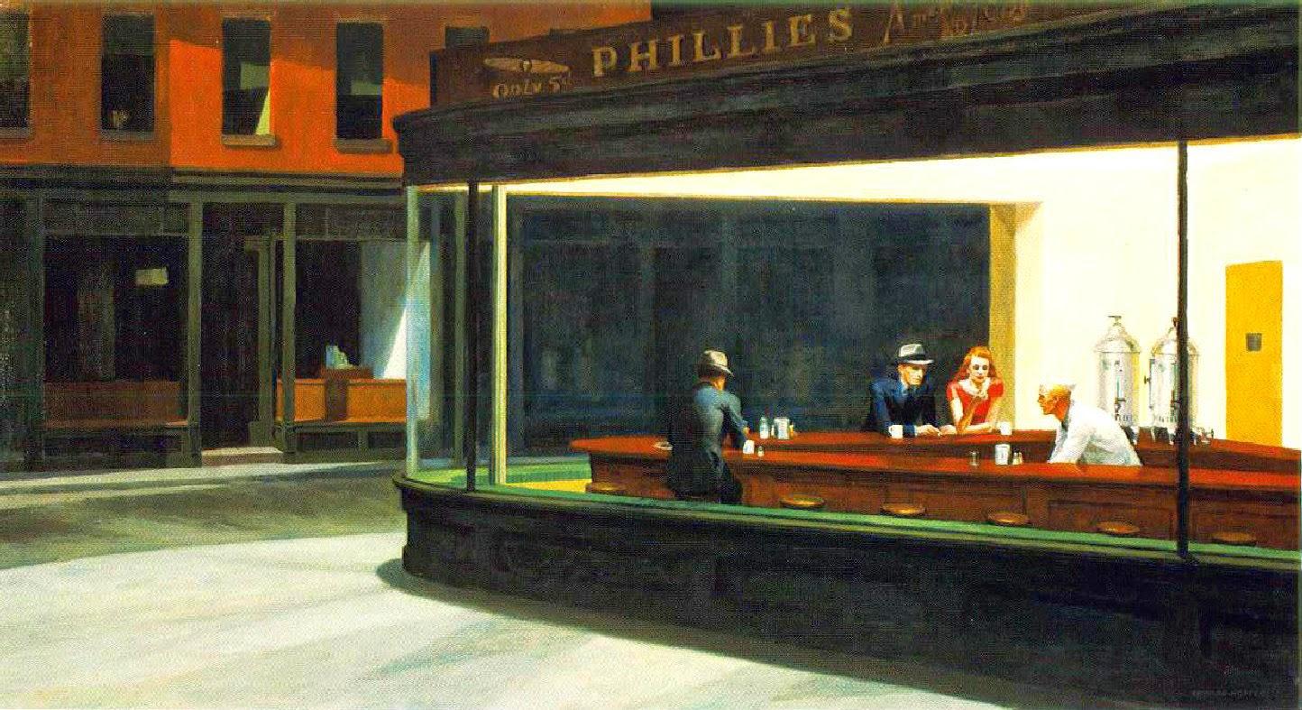 Nighthawks - Edward Hopper e suas principais pinturas ~ O pintor da solidão