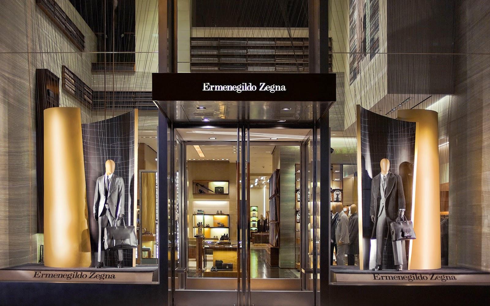 Lojas para homens na Quinta Avenida em Nova York