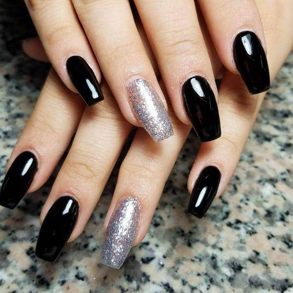 Gel Black 3d Nails