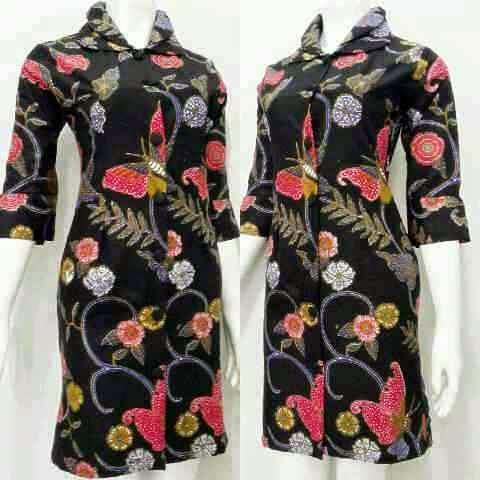 Model Terbaru Baju Mini Dress Batik 2015