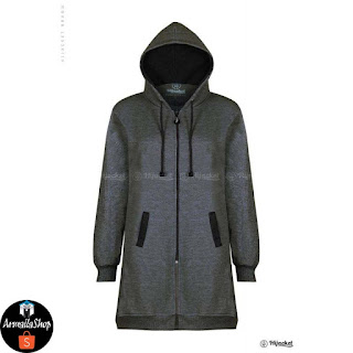 HJ8 Hijacket Hijacket MIsty x Black JAKET HIJABER ORIGINAL PREMIUM FLEECE