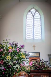 Flowers in Hobkirk Church Getting Married in Rulewater