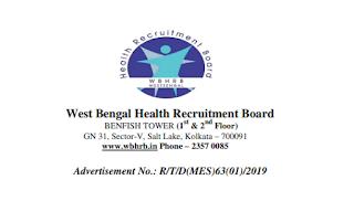 West Bengal WBHRB Tutor Demonstrator 402 Govt Jobs Online West Bengal Medical Education Service Recruitment Exam Notification 2019
