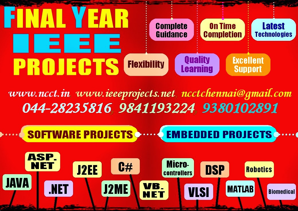 IEEE PROJECTS & FINAL YEAR PROJECTS @ NCCT: MATLAB PROJECT TITLES
