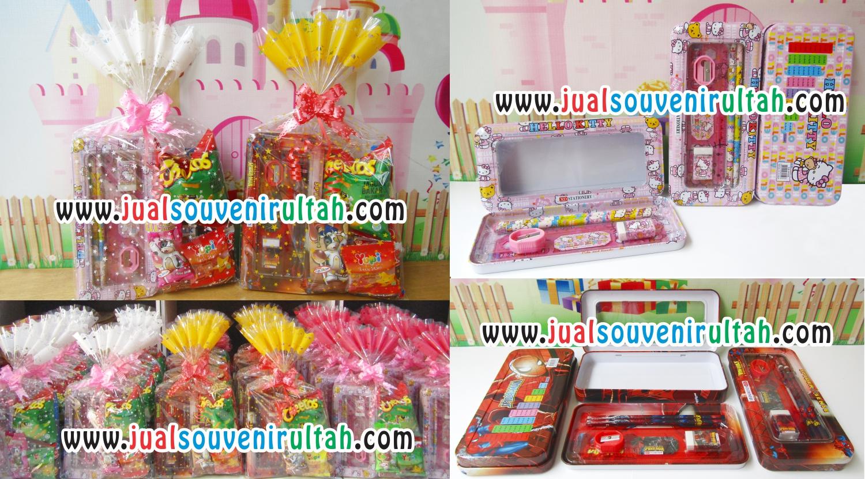 Paket Stationery Plus Tempat Pensil Dan Snack Di Bungkus Rapih Pinsil Stationary