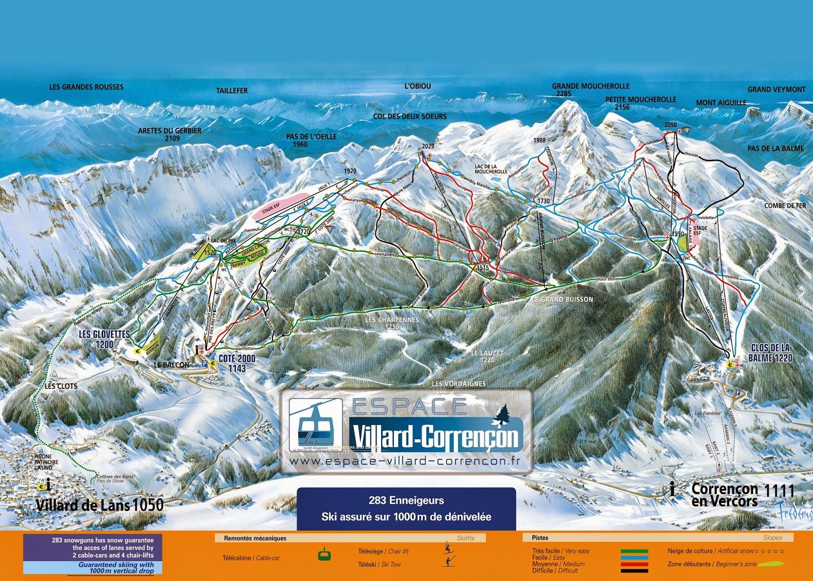 Domaine skiable Villard de Lans et Corrençon