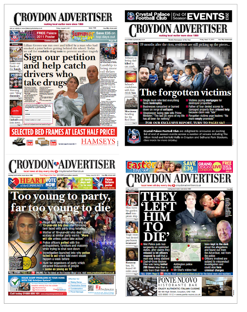 Davies's award-winning efforts for the Advertiser