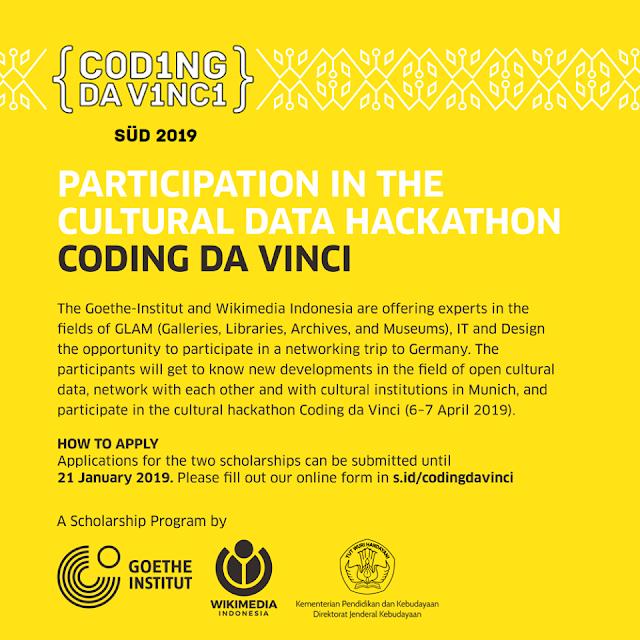 Application Form for Coding da Vinci 2019