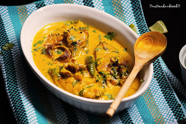 how to make Dudh Diye Macher Jhol / Bengali Fish Curry with Milk recipe and preparation