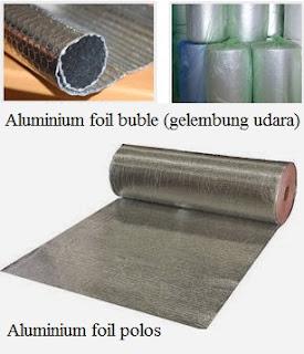 Aluminium foil buble dan polos