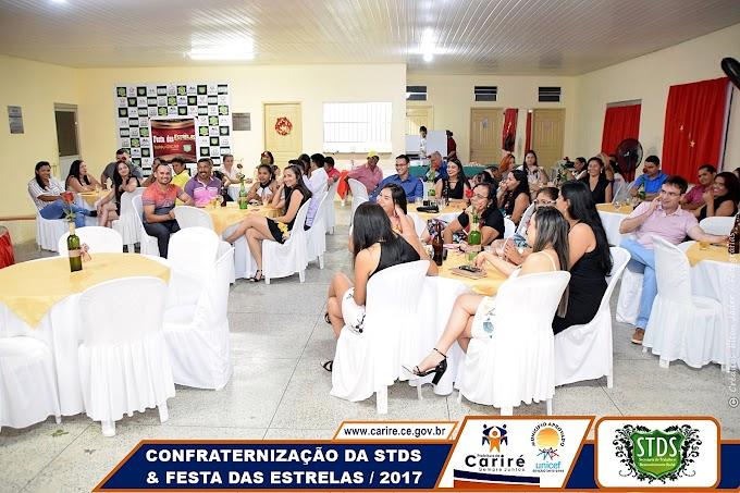 """Confraternização da STDS de Cariré contou com a 2ª edição da """"Festa das Estrelas"""" e a entrega do """"Troféu Oscar"""" de 2017"""