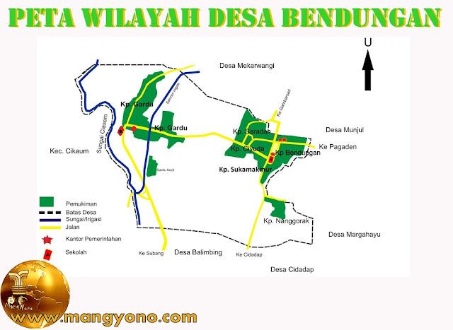 Peta wilayah Desa Bendungan