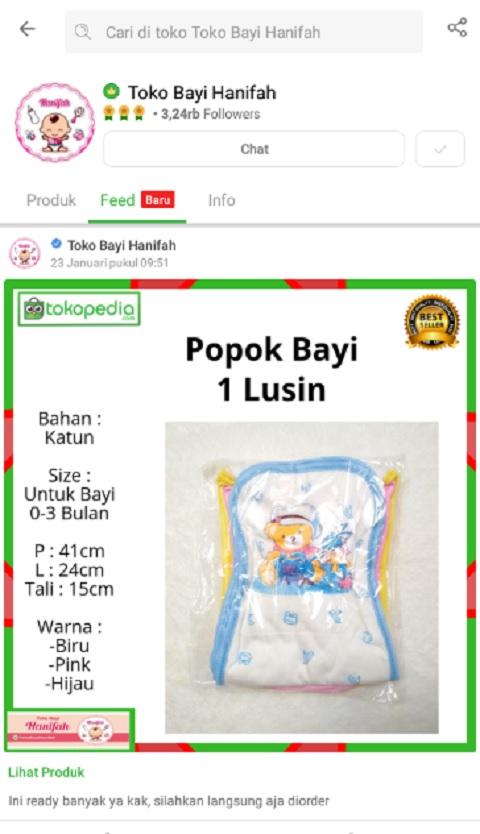 Toko Bayi Hanifah Salah Satu Toko Popok Terlaris di Tokopedia