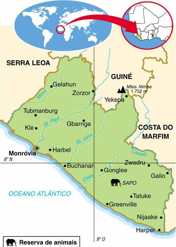 LIBÉRIA, ASPECTOS GEOGRÁFICOS E SOCIOECONÔMICOS DA LIBÉRIA
