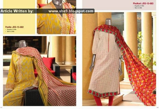 Junaid Jamshed Pret and Lawn Kurti Collection 2015 Vol-1