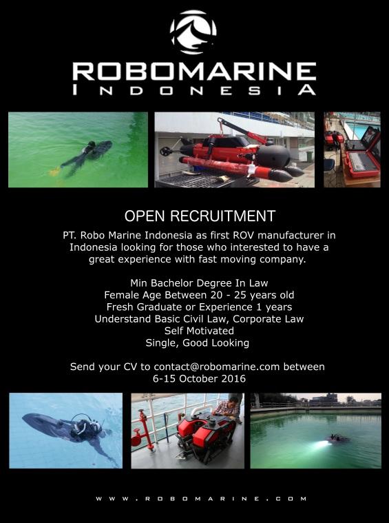 Lowongan Kerja PT. Robo Marine Indonesia Oktober 2016