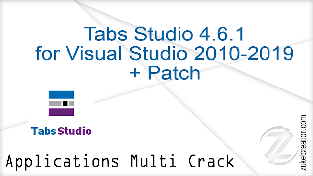 Tabs Studio 4.6.1 for Visual Studio 2010-2019 + Patch |  11.7 MB