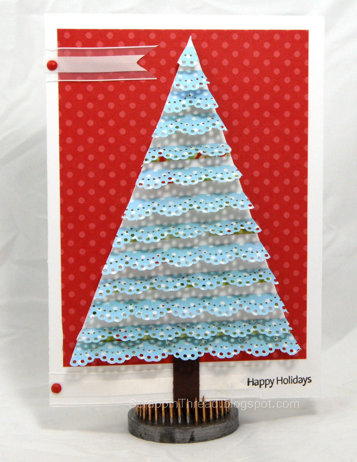 paper and fiber arts trees made with martha stewart and