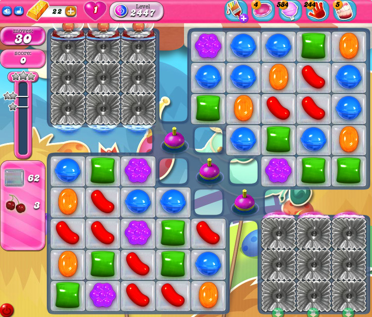Candy Crush Saga level 2447