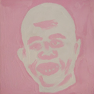 Finger painted portrait of Haitian president Michel Martelly