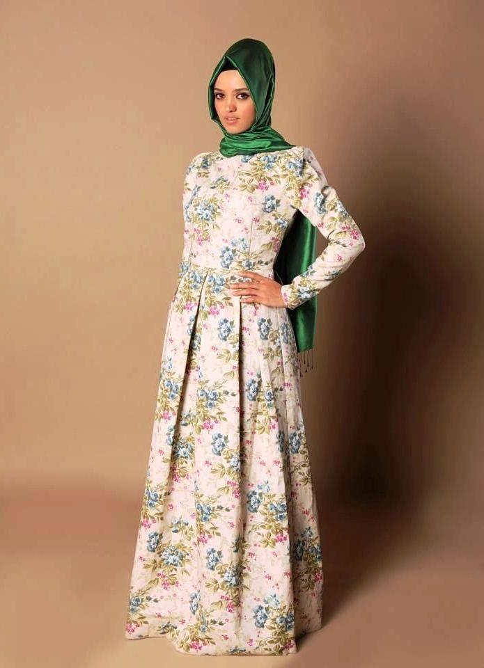 Model Gaun Batik Muslim Wanita Muslimah Modern