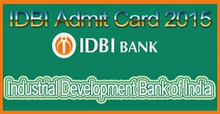 IDBI Bank Admit Card 2017