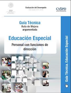 Personal con funciones de dirección-educación especial