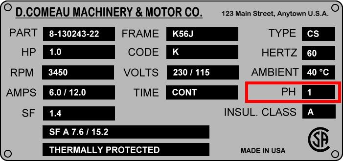 "TEFC New NEMA 1.5HP Electric Motor,1725RPM 145T Single Phase 115//230V 7//8/""Shaft"