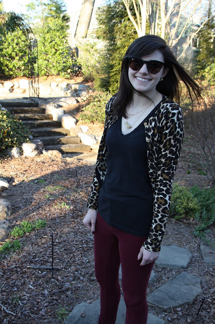 2017, winter, fashion, OOTD, cheetah, J.Crew,