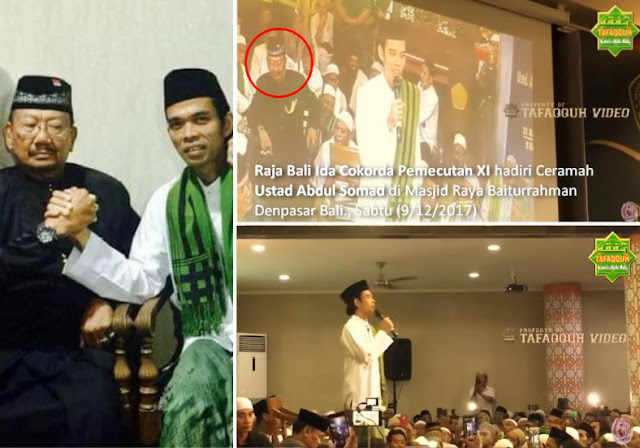 Mengharukan! Raja Bali Sambut Hangat dan Hadiri Ceramah Ustad Abdul Somad