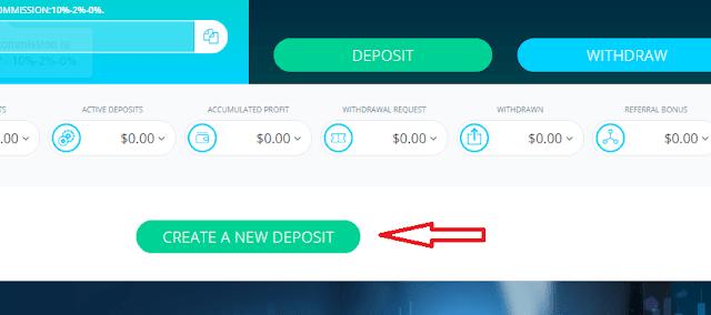 Создание депозита в хайп проекте Elirtex com