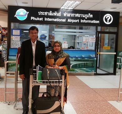 At Phuket Int. Airport, 3rd APJC-PBL-2014, Thailand
