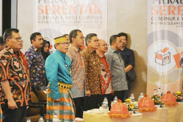 Wabup Hadiri Launcing, Pilkada Serentak 2018 Di Makassar