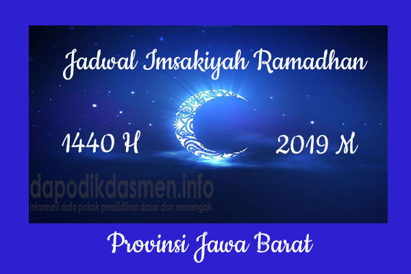 Jadwal Imsakiyah Ramadhan Provinsi Jawa Barat
