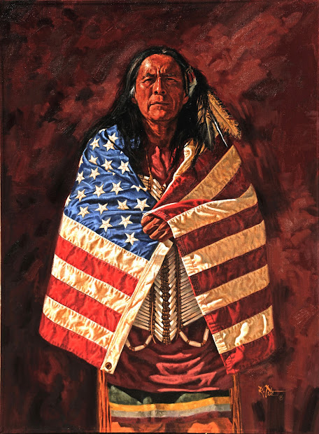 Modern American Flag Paintings