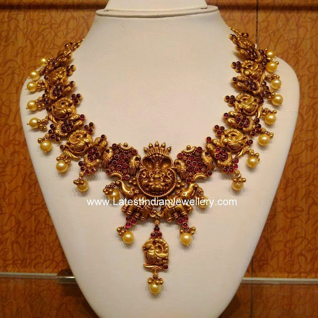 Nakshi Work Ruby Necklace