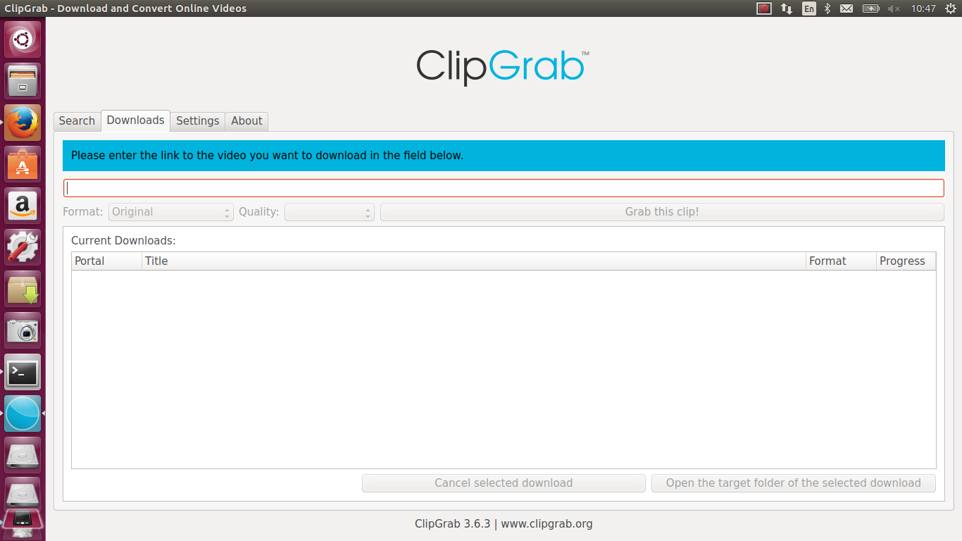clipgrab pour ubuntu