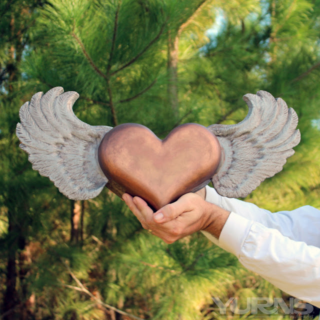 Flying Heart Cremation Urn