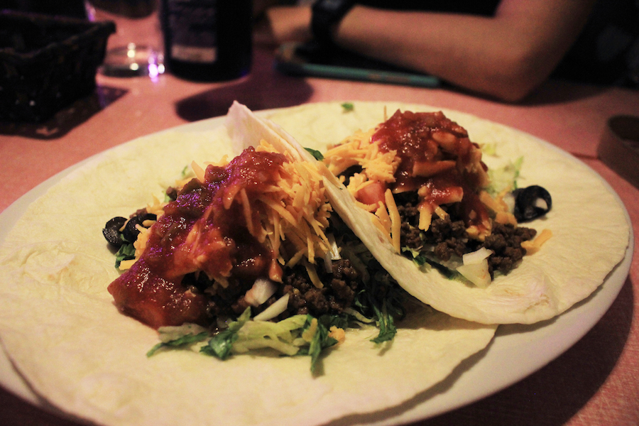 Tex mex style tacos at Shioya Diner on Naoshima Island Japan
