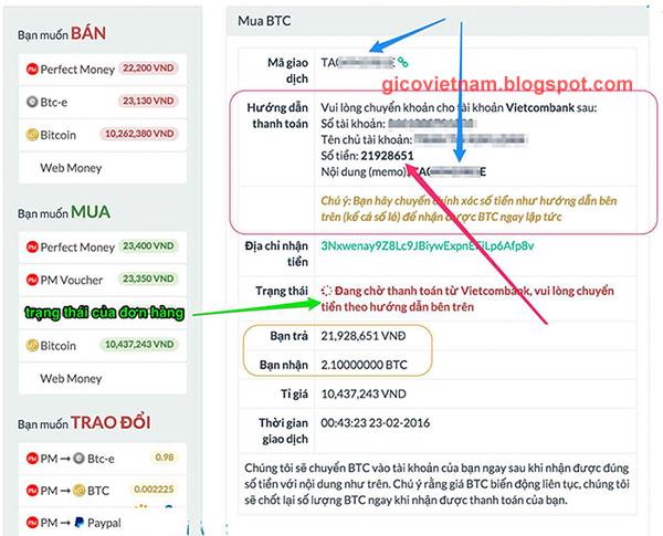 Hướng dẫn cách mua Bitcoin trên sàn giao dịch Santienao.com