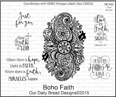 Our Daily Bread Designs Stamp set: Boho Faith