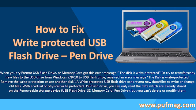 How to Fix Write protected USB Flash Drive/Pen Drive [Latest Edition]