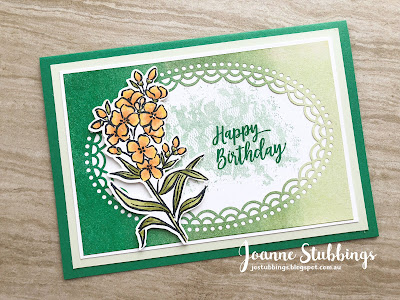 Jo's Stamping Spot - ESAD 2018 Annual Catalogue Launch Blog Hop using Call Me Clover and Delightfully Detailed DSP by Stampin' Up!