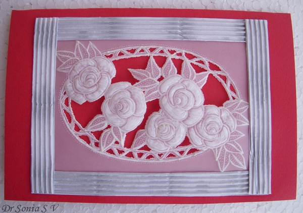 Cards Crafts Kids Projects Parchment Craft Card Roses And How To