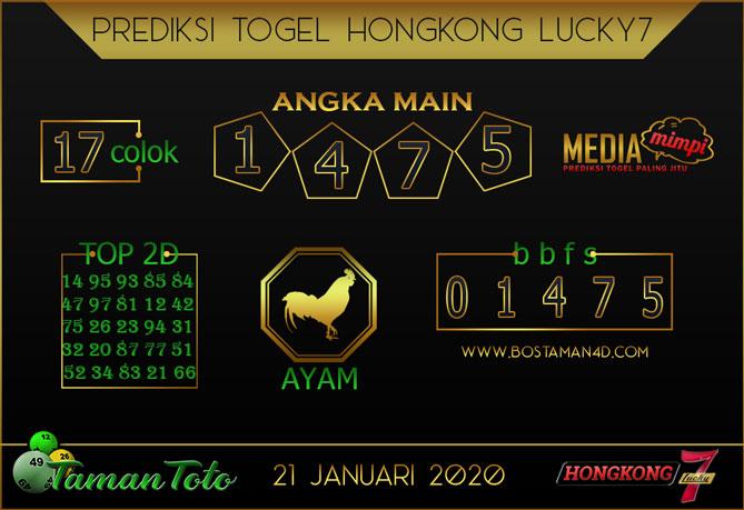 Prediksi Togel HONGKONG LUCKY 7 TAMAN TOTO 21 JANUARI 2020