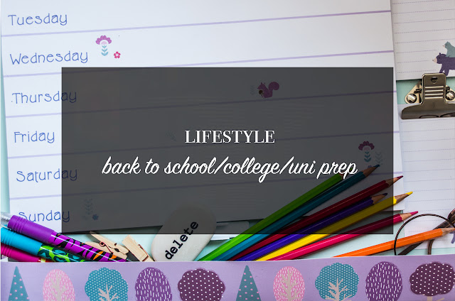 ◈ My Back To School/College/Uni Prep Advice!