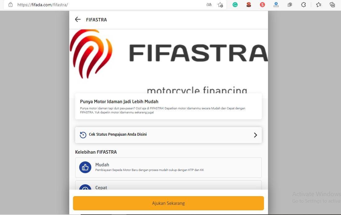 Cara Mengajukan Kredit Motor di FIF Update Terbaru