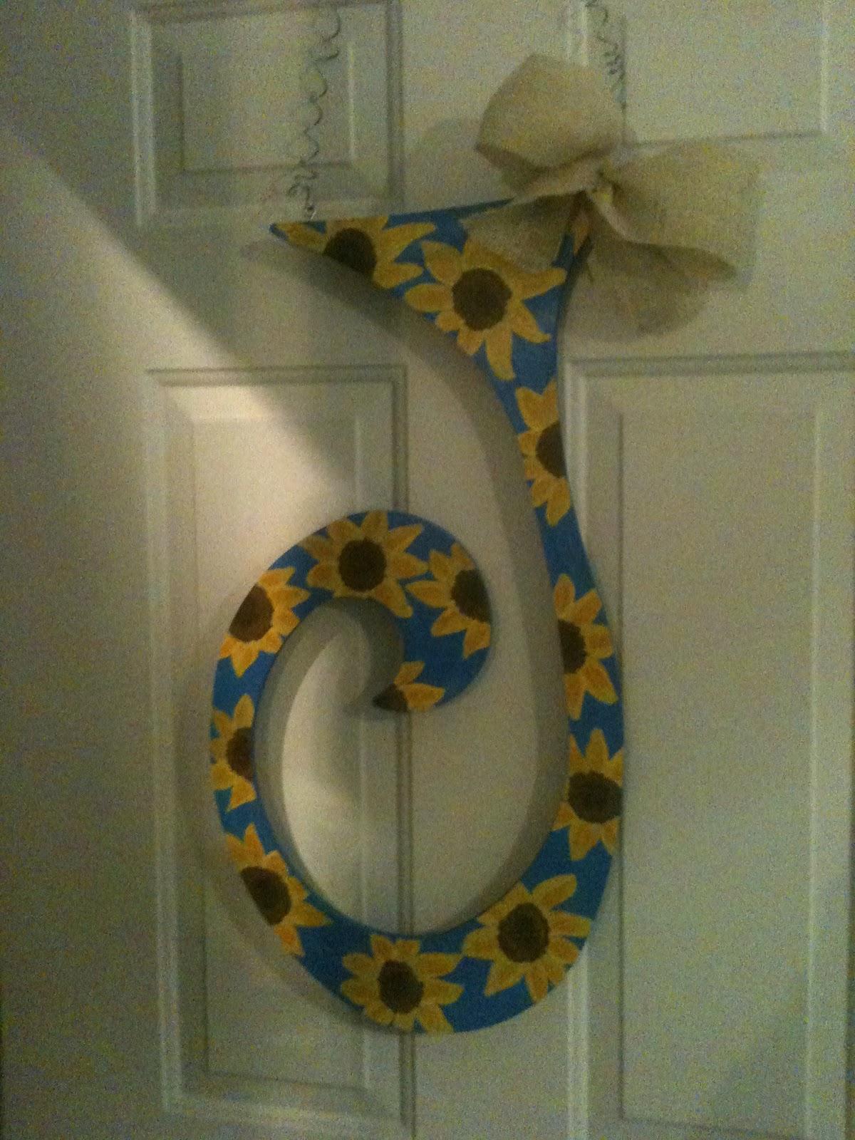 U Personalized: Hand-Painted Initial Door Hanger $25