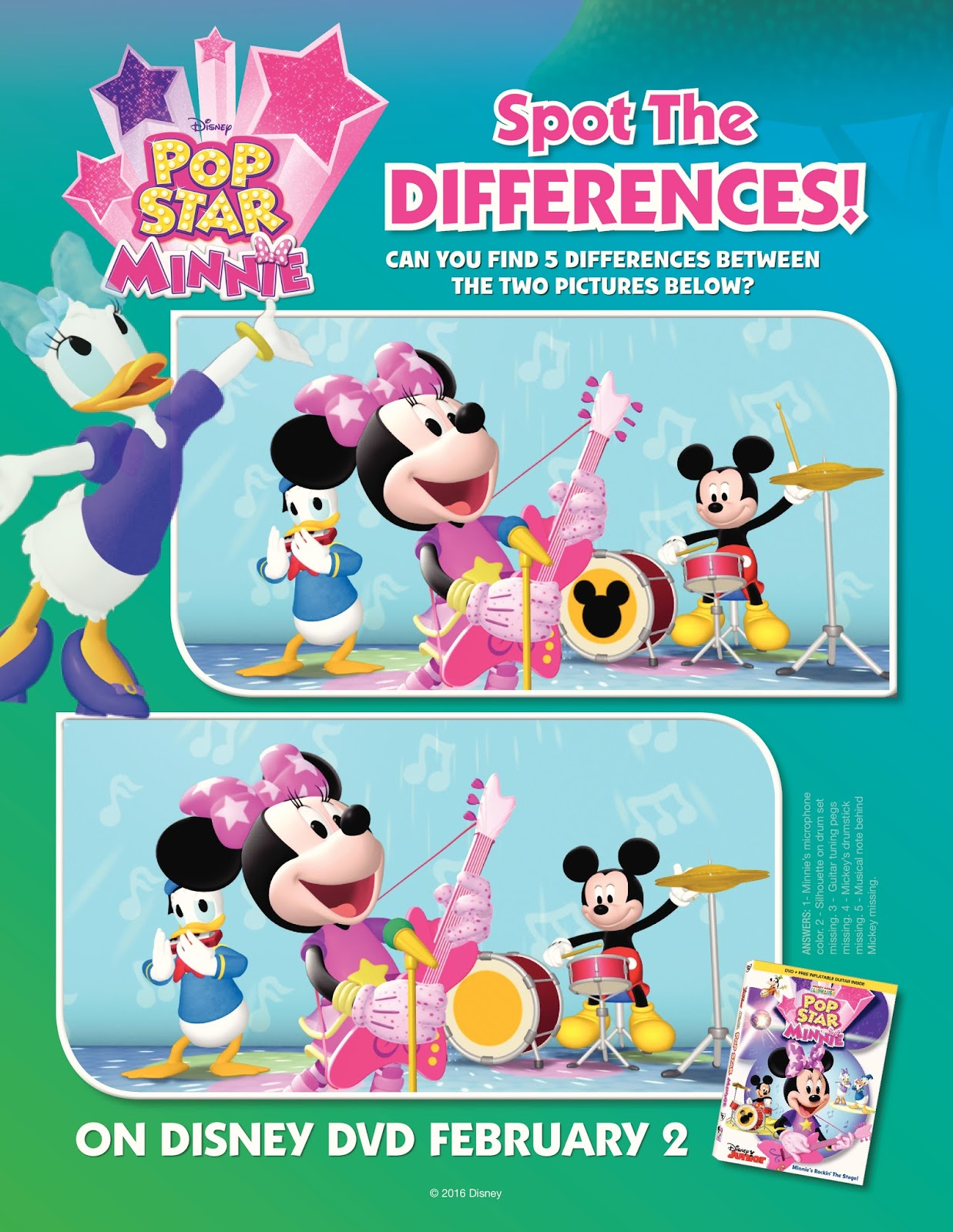 Disney Minnie Mouse Coloring Activity Sheets
