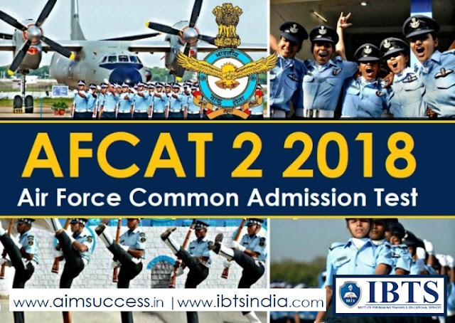 AFCAT 2018 Notification Out for 182 Posts